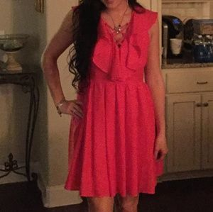Express red lace up dress size 8 sexy cute